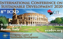 INTERNATIONAL CONFERENCE ON SUSTAINABLE DEVELOPMENT 2020
