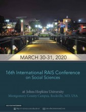 16th International RAIS Conference on Social Sciences and Humanities