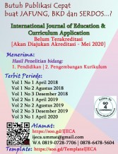 International Journal of Education and Curriculum Application